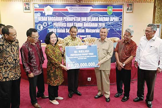 Syamsuar Bedah APBD Riau di Gedung BI