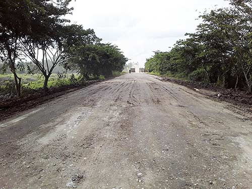 2019, Jalan Rusak Sekitar  Jembatan Perawang Dibeton