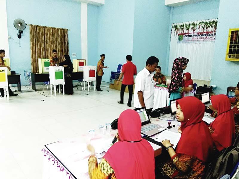 Tiga Desa Gelar Pilkades  Sistem E-Voting