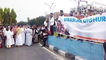 Aksi Bela Umat Islam Uighur