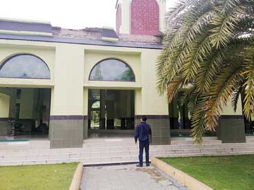 Perbaiki Relief Masjid Raya An-Nur
