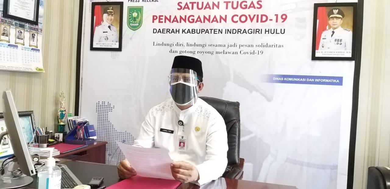 Pasien Positif Covid-19 di Inhu Terus Turun, Vaksin di Bawah 20 Persen