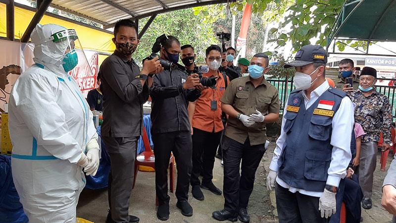 Gubri Sosialisasikan Penggunaan Masker di Rupat