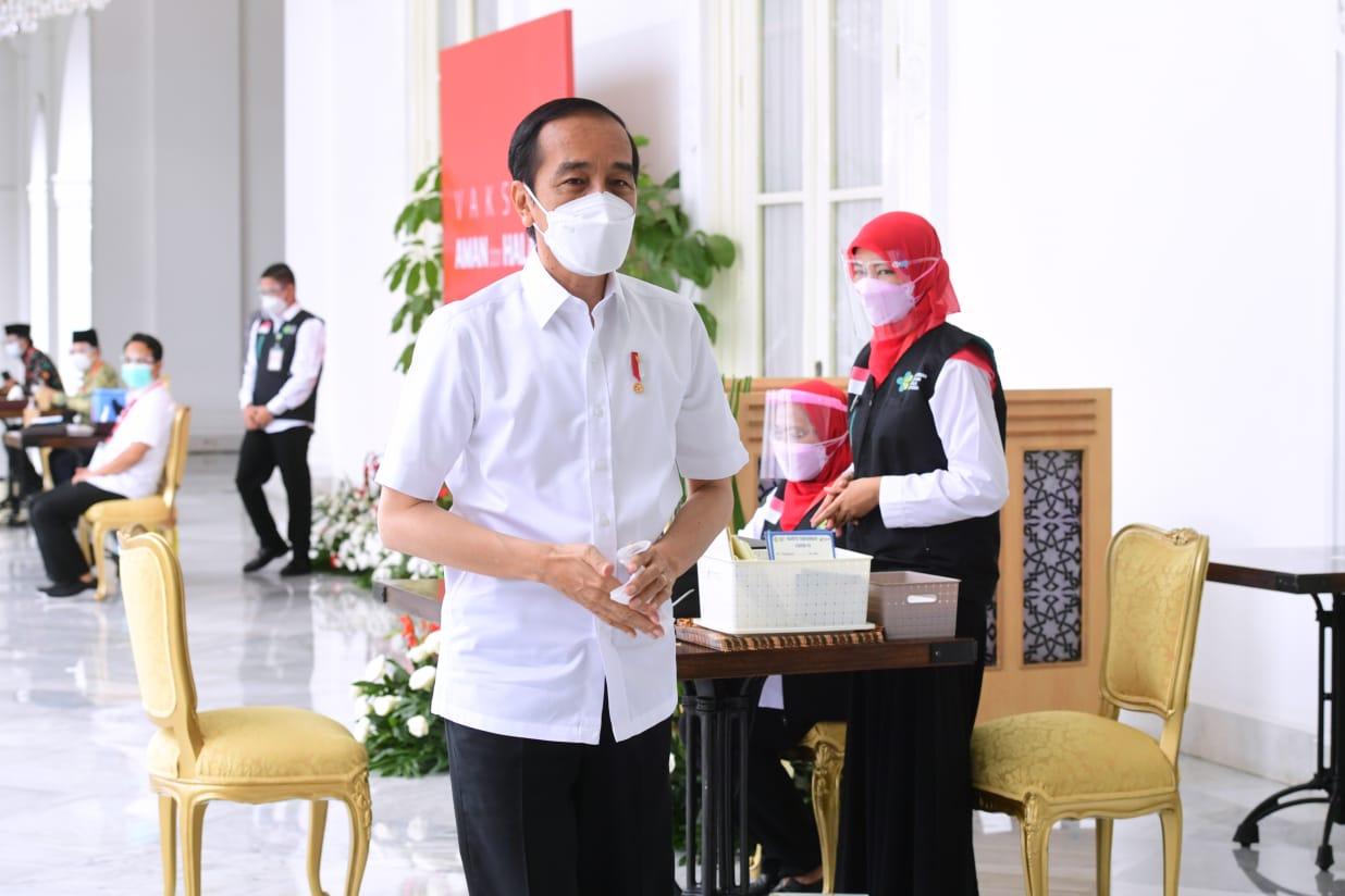 Ini yang Dirasakan Jokowi Setelah Suntik Vaksin Covid-19