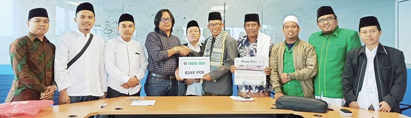 Forum Mubalig Aswaja Riau Bersilaturahmi ke Riau Pos