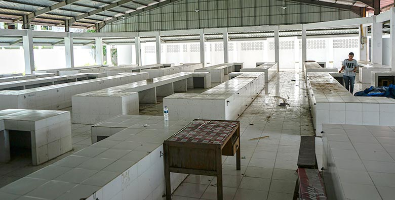 Pagar Dirobohkan,  Pasar Higienis Tetap Sepi