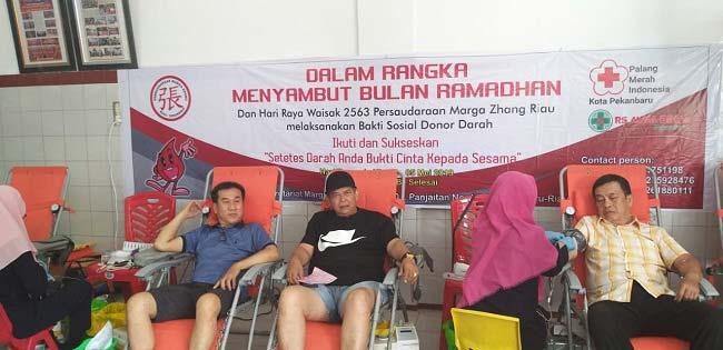 Pengurus Persaudaraan Marga Zhang Riau Gelar Kegiatan Sosial