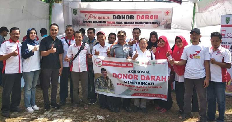 LP2A Pasir Penyu Gelar  Sunatan Massal dan Donor Darah