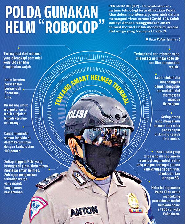 "Polda Riau Gunakan Helm ""Robocop"""