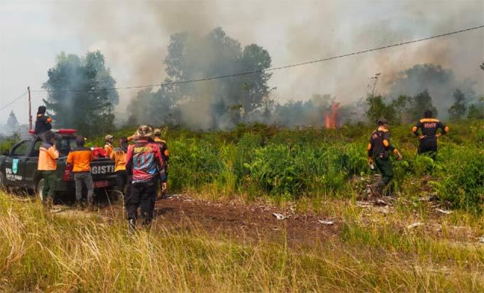 Cuaca Ekstrim, 7 Hektare Lahan Gambut Terbakar