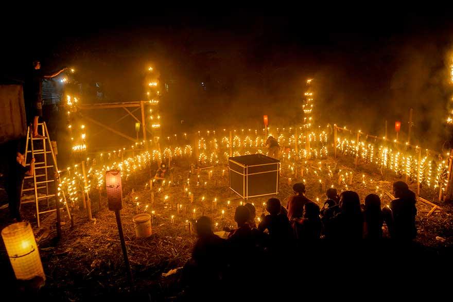 Sambut Idulfitri dengan Festival Lampu Colok