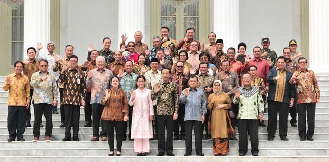 Minus Wiranto dan Luhut, Jokowi-JK Foto Bersama Anggota Kabinet