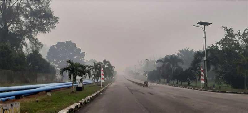 Sore Ini Hotspot di Riau 74 Titik ,  Jarak Pandang di Dumai 500 Meter