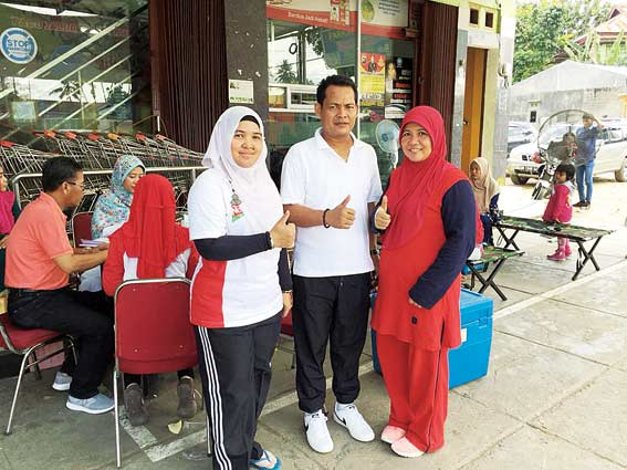 HUT Kuansing, Indrako Swalayan Donor Darah
