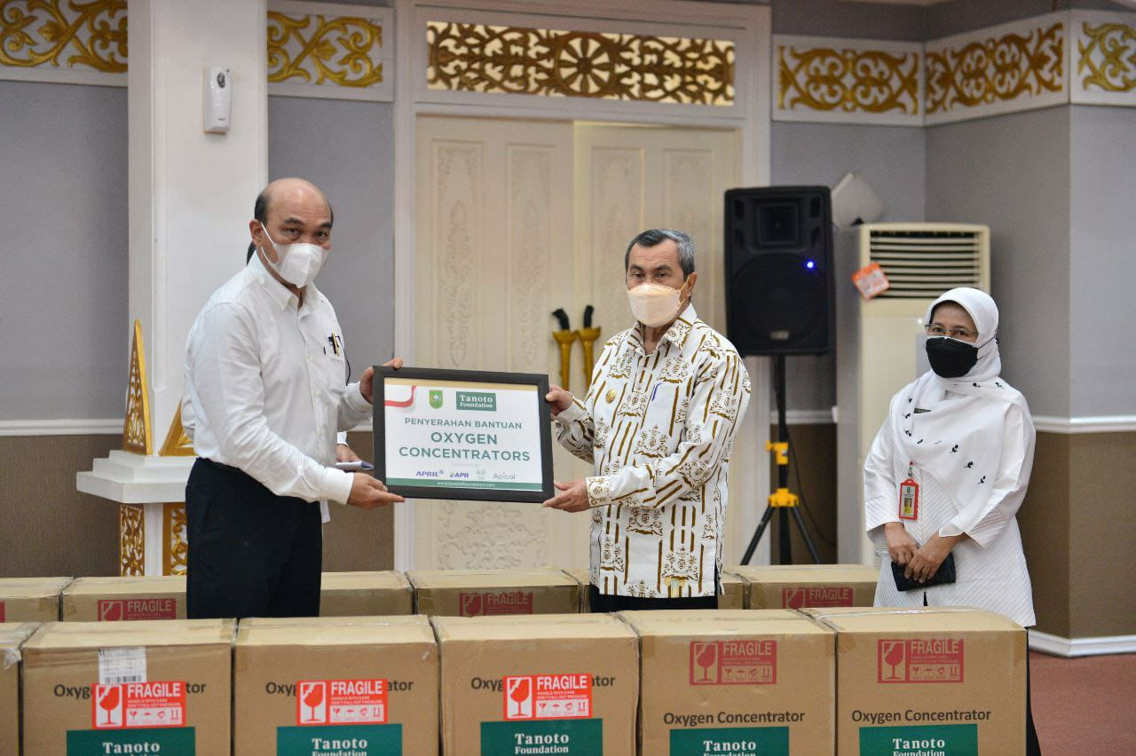 Pemprov Riau Terima Bantuan 145 Unit Oxygen Concentrator