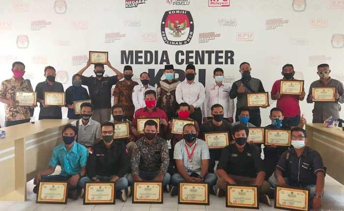 KPU Rohil Gelar Sosialisasi untuk Media