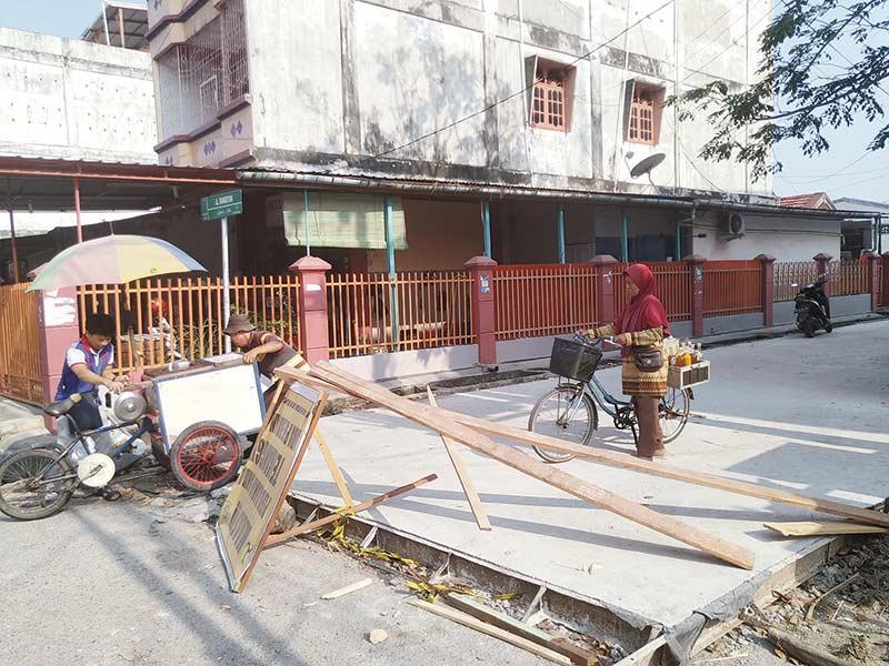 Perbaiki Jalan Rambutan Rp700 Juta