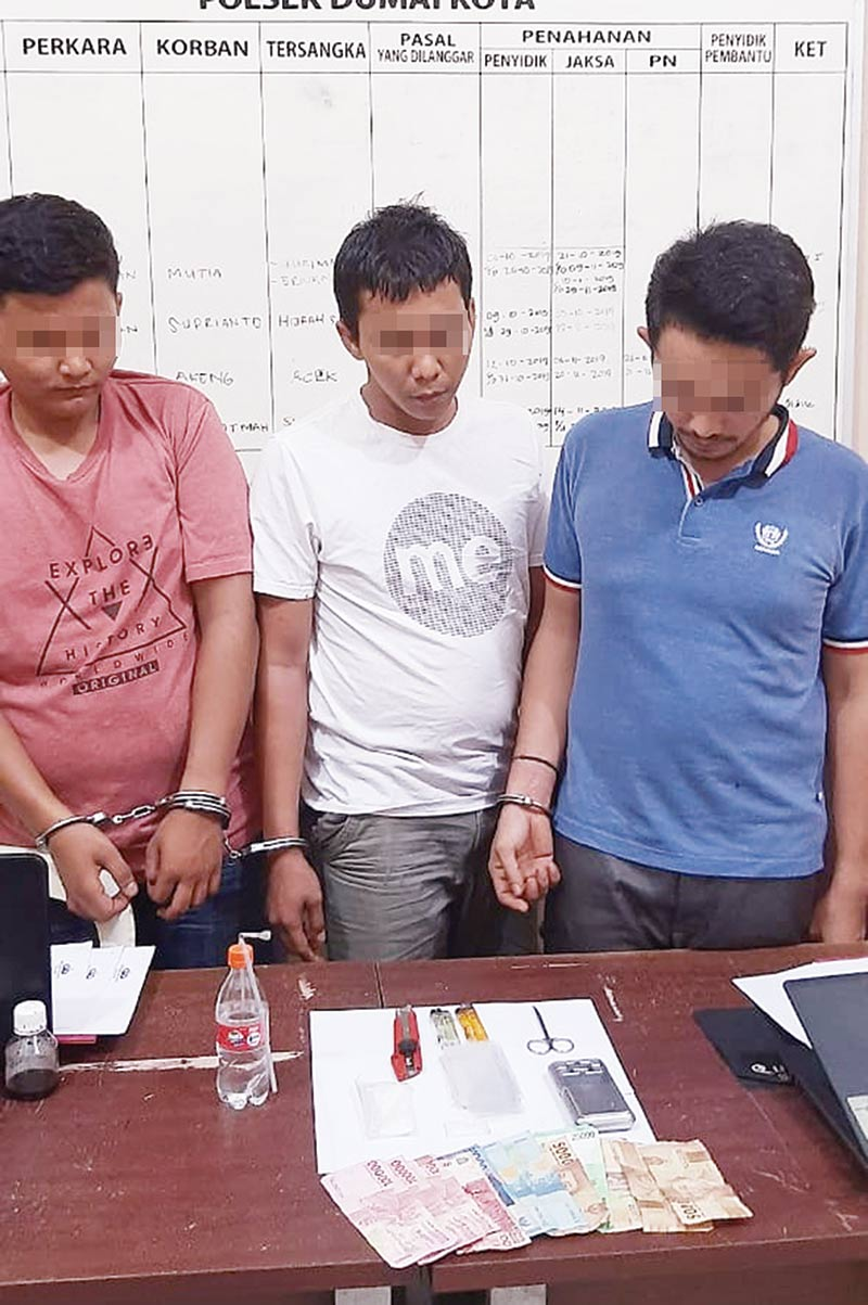 Tiga Pengedar Narkoba Ditangkap