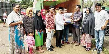 PT RAPP Salurkan Bantuan Korban Banjir di Kampar Kiri dan Kampar Kiri Hulu