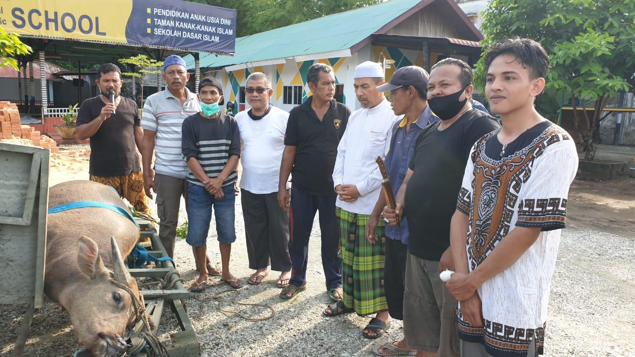 Komunitas Santri Riau Qurban Satu Ekor Kerbau