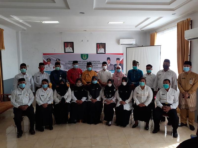 25 Honorer dari Disdik dan DKPP Terima SK PPPK