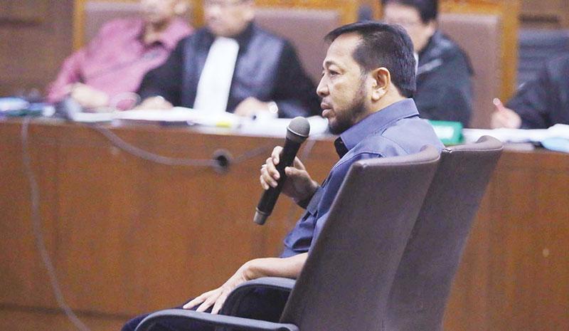 Jadi Saksi PLTU Riau 1, Setnov Berewokan