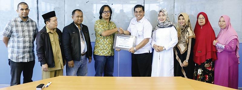TRC Sharing Informasi dengan Riau Pos