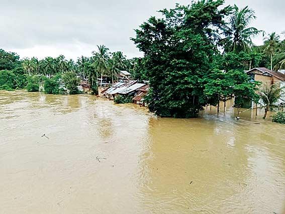 Sungai Subayang Meluap, Empat Desa Banjir