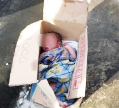 Bayi Baru Lahir Dibuang dalam Kardus