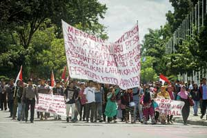 Mahasiswa Tuntut Perjuangkan Hak Petani