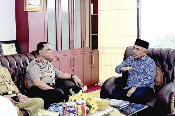 Kapolda Temui Gubernur Bahas Kondisi Riau