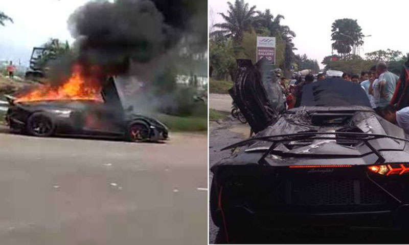 Lamborghini Mewah Raffi Ahmad Terbakar
