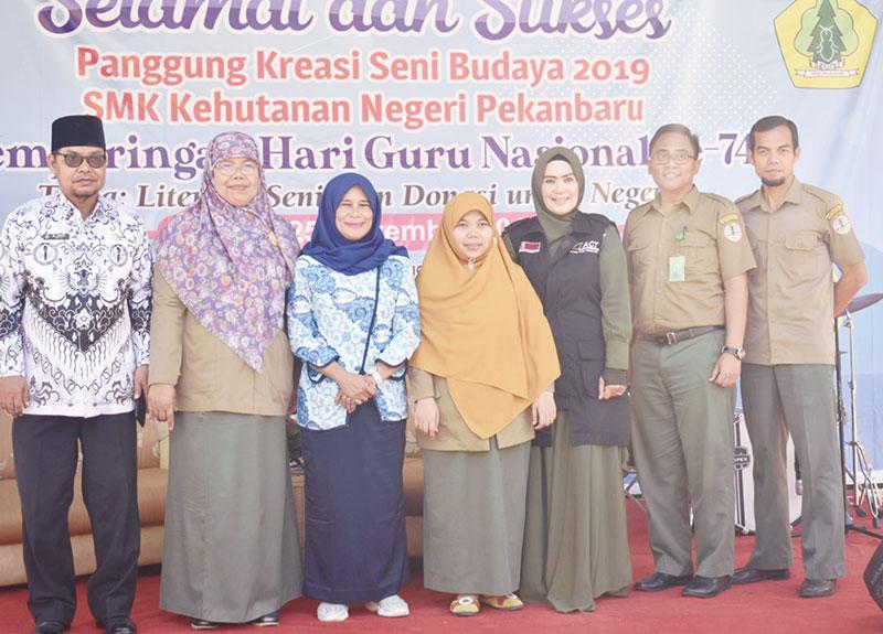 Donasi untuk Negeri Jadi Pilihan SMK Kehutanan Negeri Pekanbaru