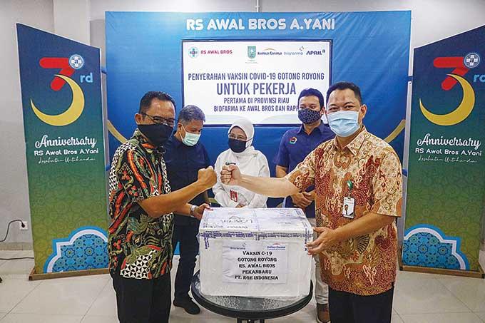 Riau Terima 1.800 Dosis Vaksin Gotong Royong