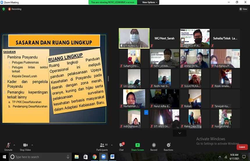 RAPP Latih 300 Kader Posyandu di Riau