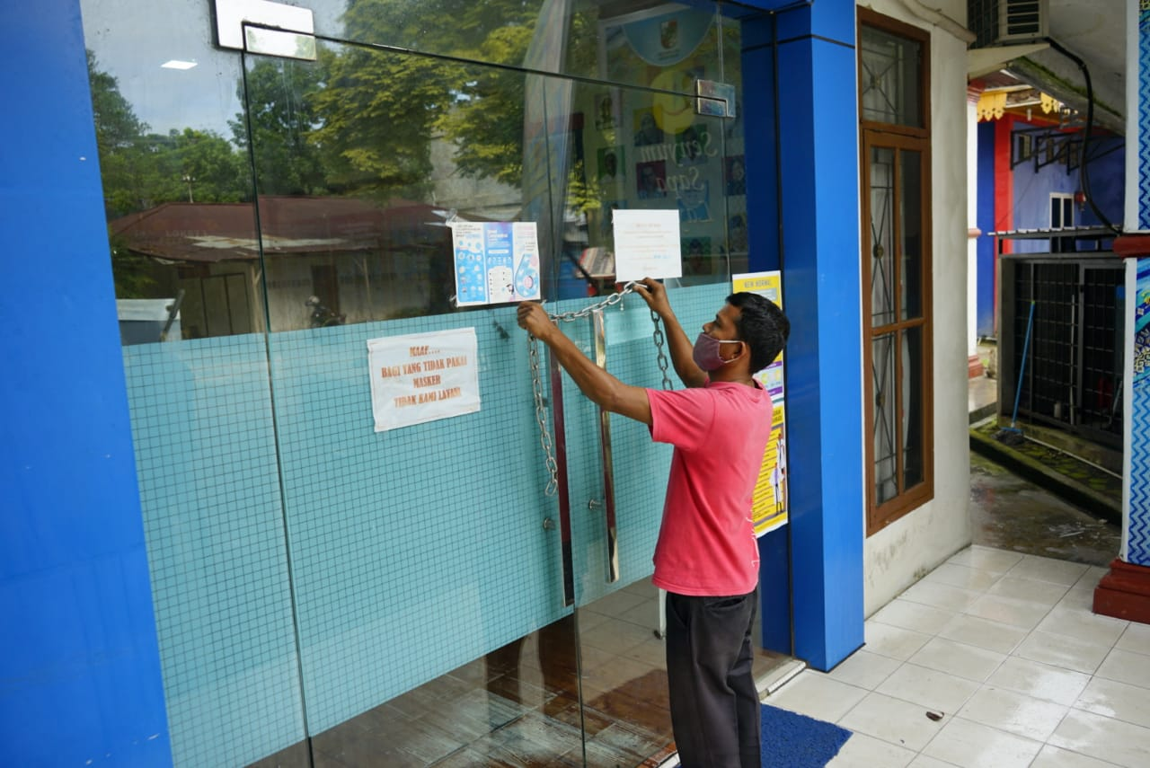 Pegawai Positif Corona, Kantor Camat Bukitraya Ditutup
