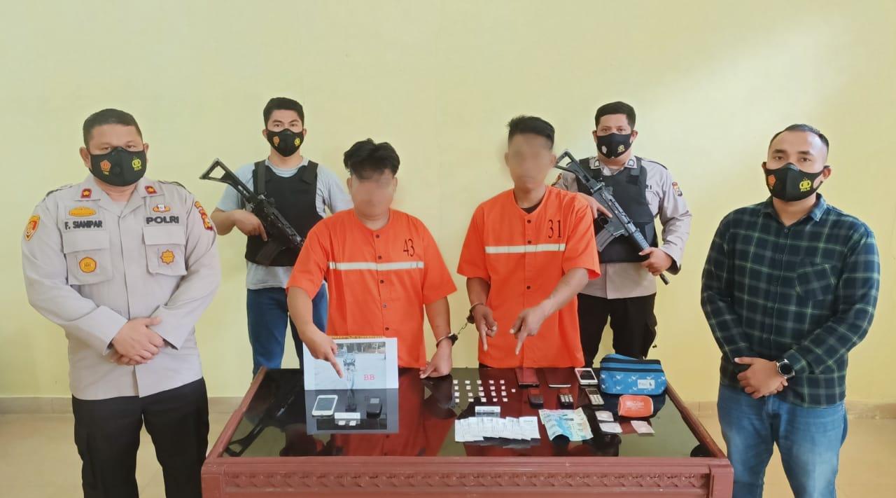Edarkan Sabu di Areal Perkebunan, MA dan EP Ditangkap Polisi