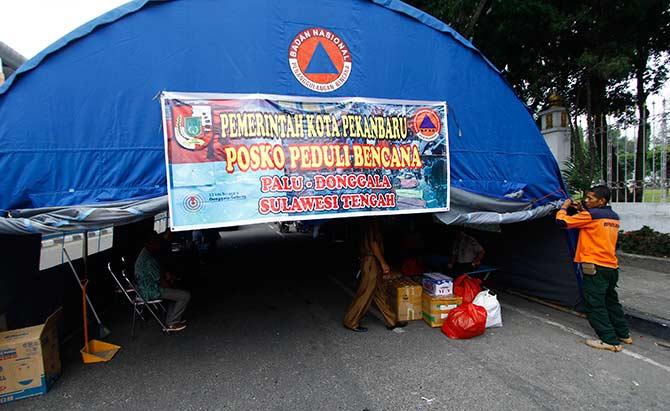 Posko Bantuan Sulteng Buka 24 Jam