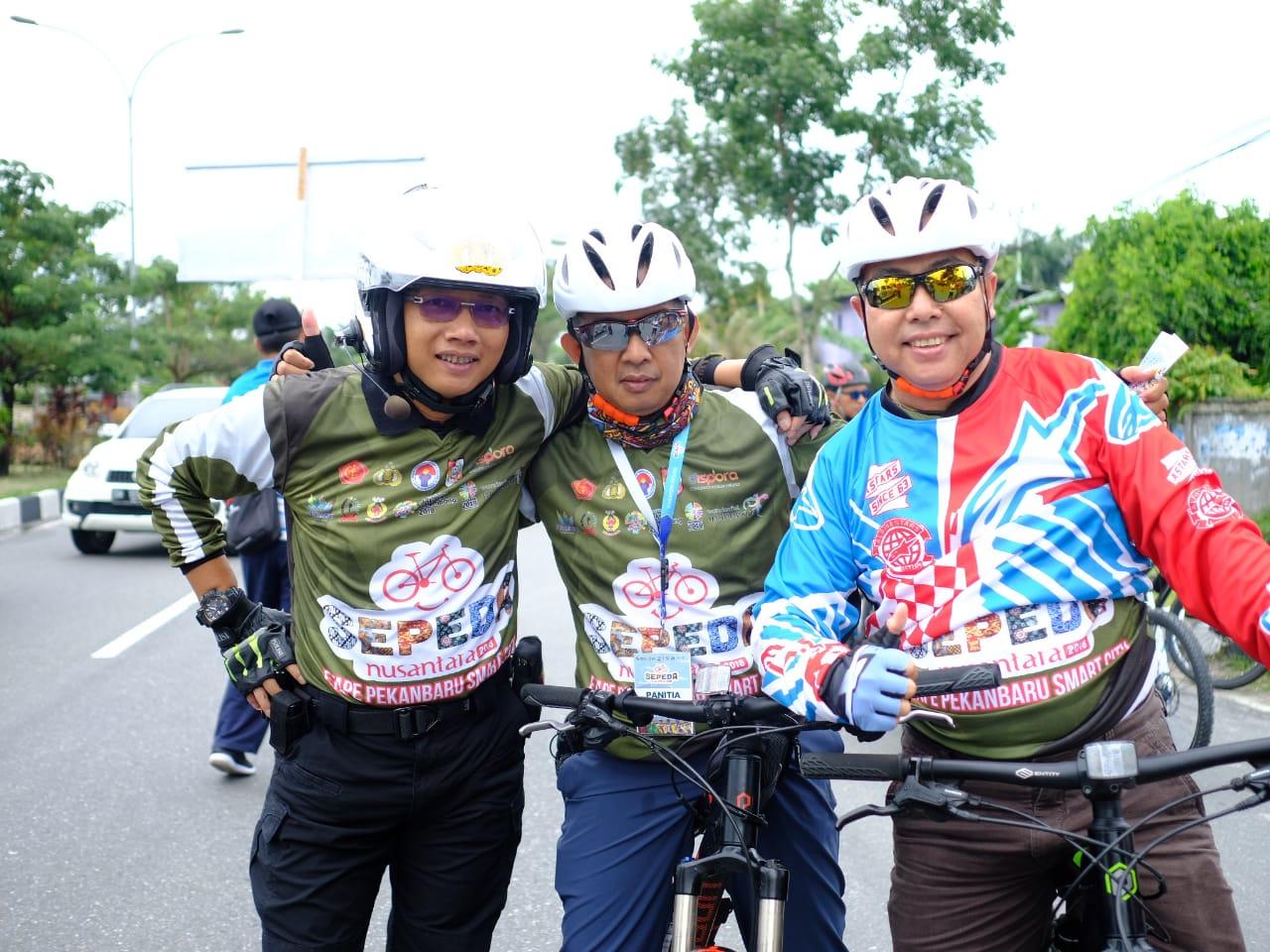 Kapolresta Pimpin Langsung Pam Gowes Nusantara Etape Pekanbaru