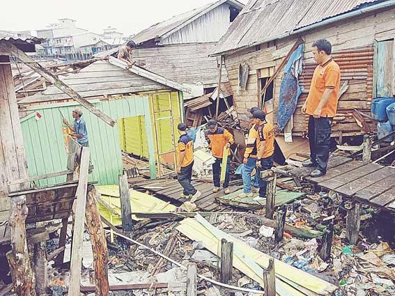 Tujuh Rumah di Kuala Enok Terkena Abrasi