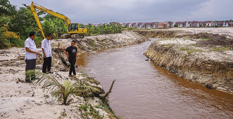PUPR Lakukan Normalisasi Anak Sungai