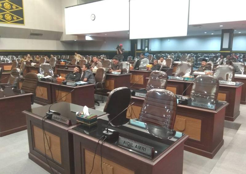 Paripurna Reses Sepi Anggota Dewan