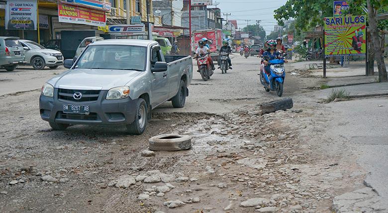 Overlay Jalan Dharma Bakti Persiapan Lelang