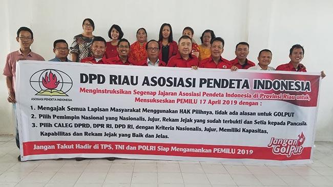 DPD API Riau Menyerukan Masyarakat Tidak Golput
