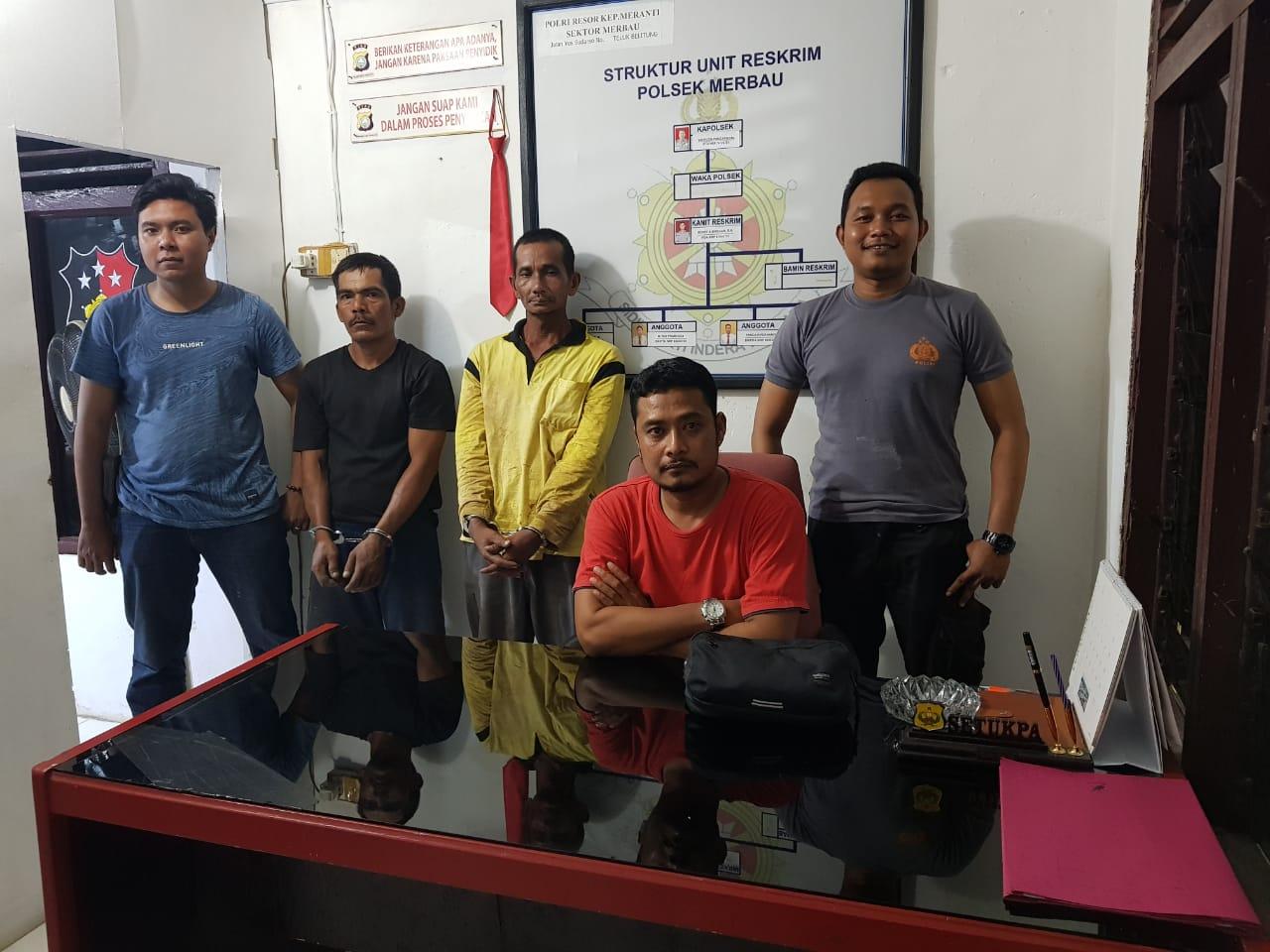 Polisi Tangkap Tangan Terduga Pencuri Kabel di TKP