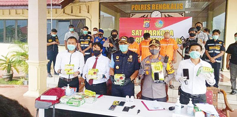 Tiga Sindikat Pelaku Penggendong 10 Kg Sabu Ditangkap