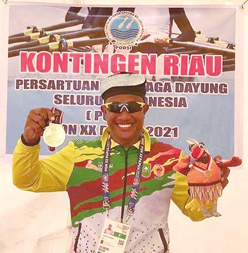 Emas Pertama Riau, Pecahkan Rekornas