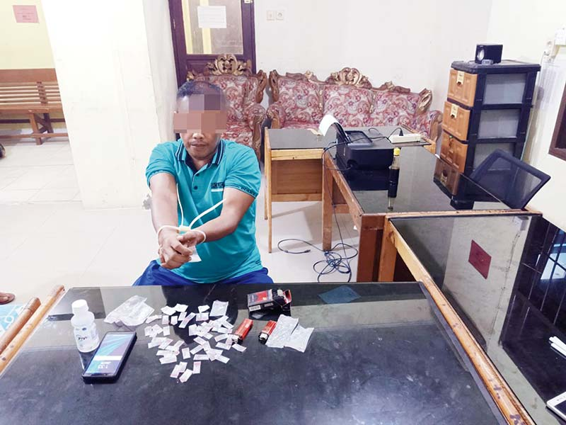 Polsek Tambang Amankan Pemilik 51 Paket Sabu