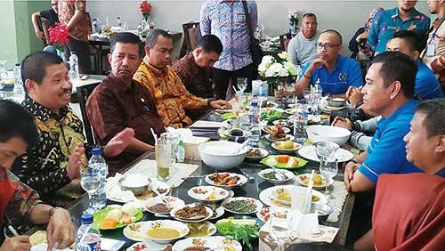 Bupati-PWI  Bengkalis Gelar Pertemuan di Duri