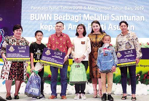 PGN dan Bukit Asam Gelar Natal  Bersama 500 Anak Yatim Piatu di Riau